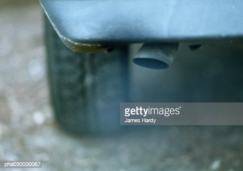 Car exhaust pipe, close-up.