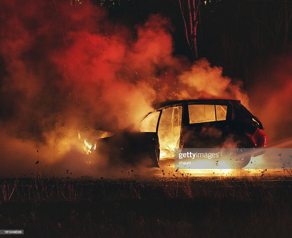 Car Fire : Stock Photo