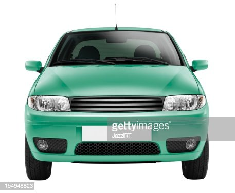 Car front side (isolated with clipping path over white background)