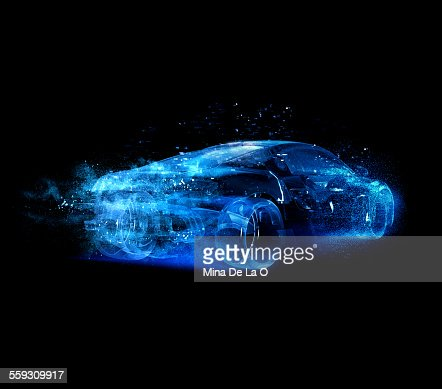 Car glass blue