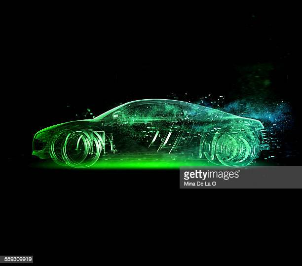Car glass green