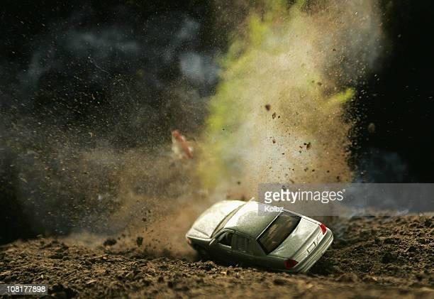 Car Hitting Landmine