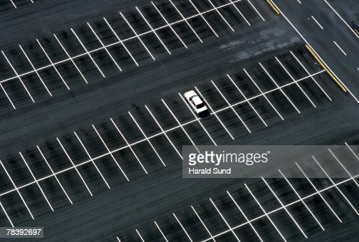 Car in parking lot : Stock Photo