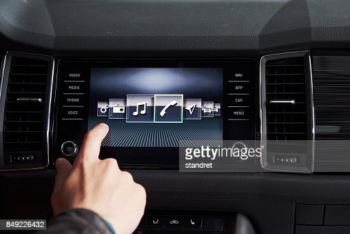 car interior - devices, the concept of driving. : Stock Photo