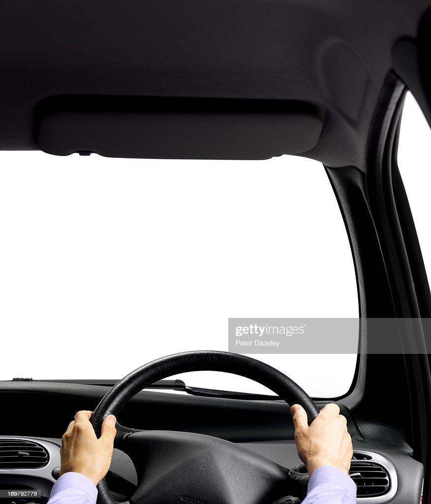 Car interior with copy space
