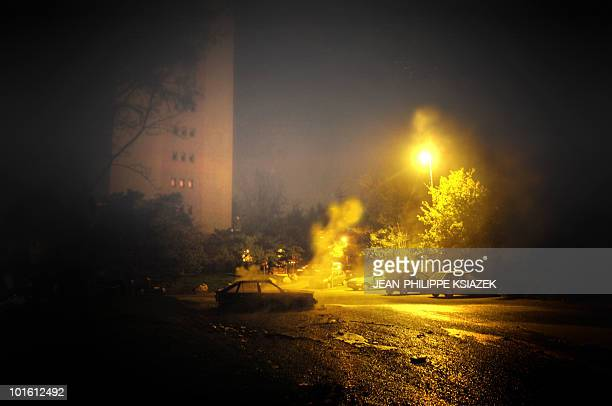 A car is burning overnight in Lyon Minguettes popular district Some 15 cars have been burnt in the Lyon district during the night France saw an...