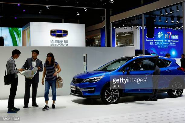 GS car is displayed during the first day of the 17th Shanghai International Automobile Industry Exhibition in Shanghai on April 19 2017 Global...