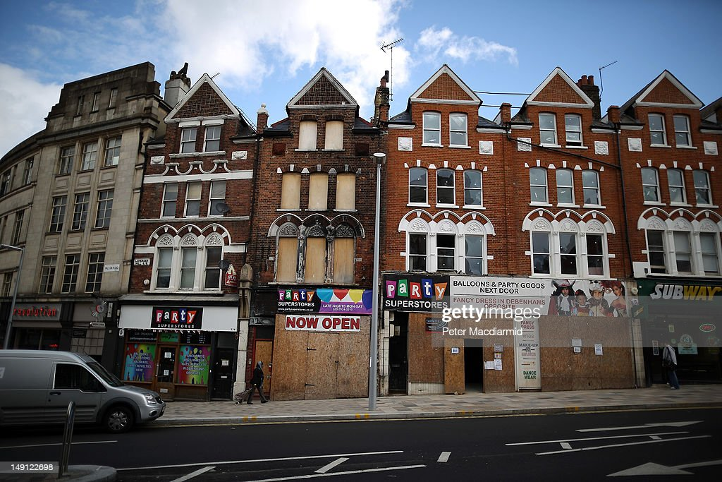 A car is parked near where rioting occurred during August 2011 in Clapham Junction on July 11 2012 in London England August 6th marks the one year...