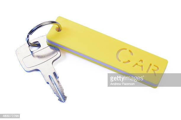 Car keyring and key