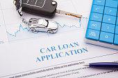 Car loan application Form with pen