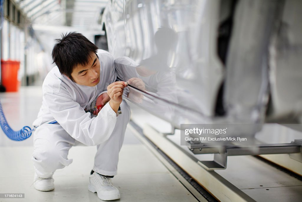 Car manufacturing plant, Wuhu, China : Stock Photo