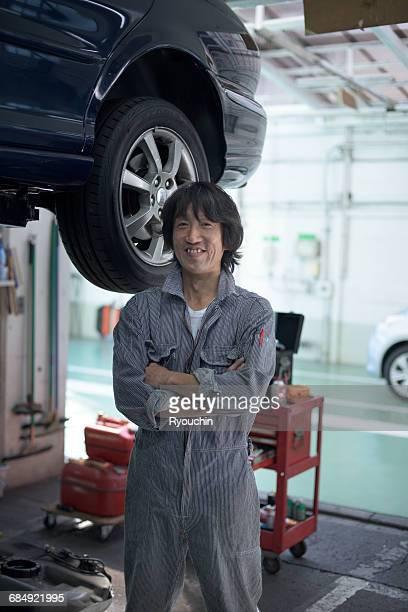 Car mechanic. , Worker's portrait