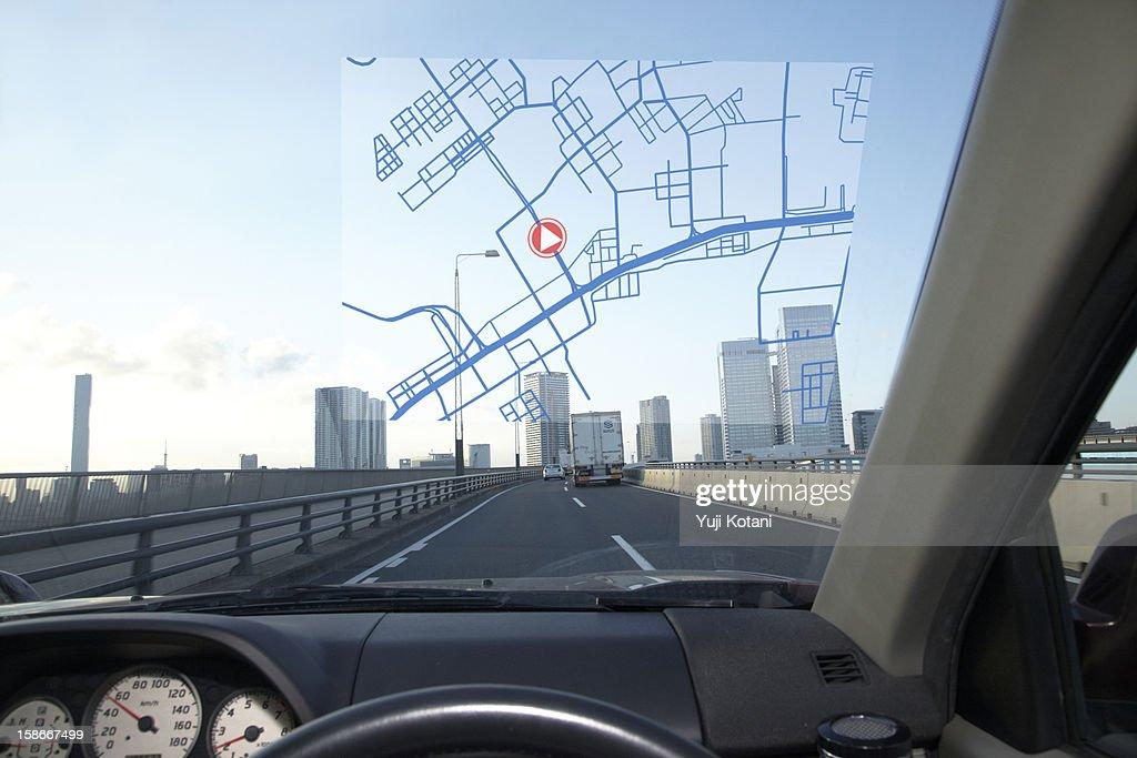 Car navigation system : Stock Photo