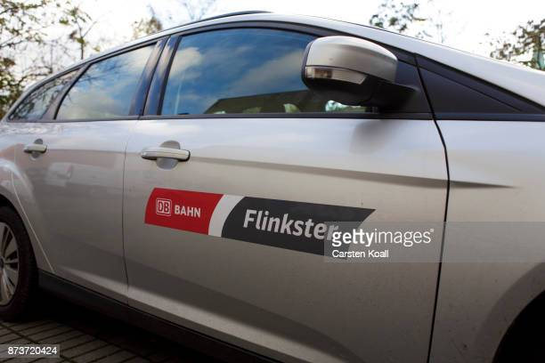 A car of the car sharing agency Flinkster in collaboration with the DB Deutsche Bahn is parked at the pickup and return station on November 13 2017...