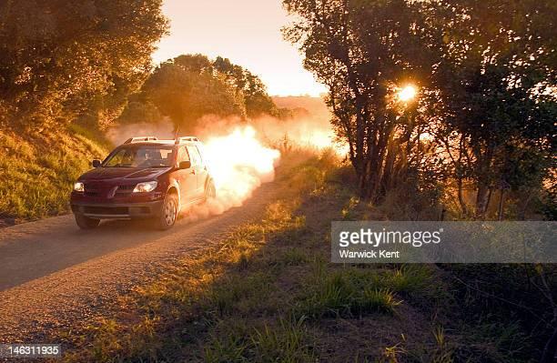 Car on dirt road