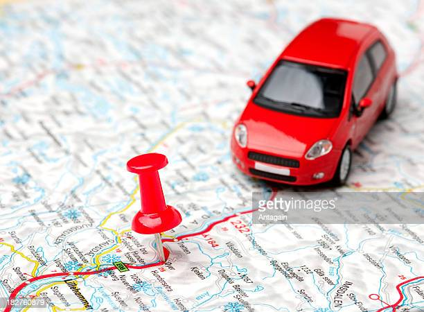 car on map