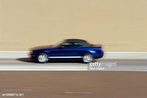 Car on road, blurred motion