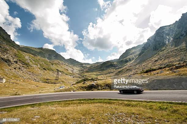 Car on Transfagarasan road