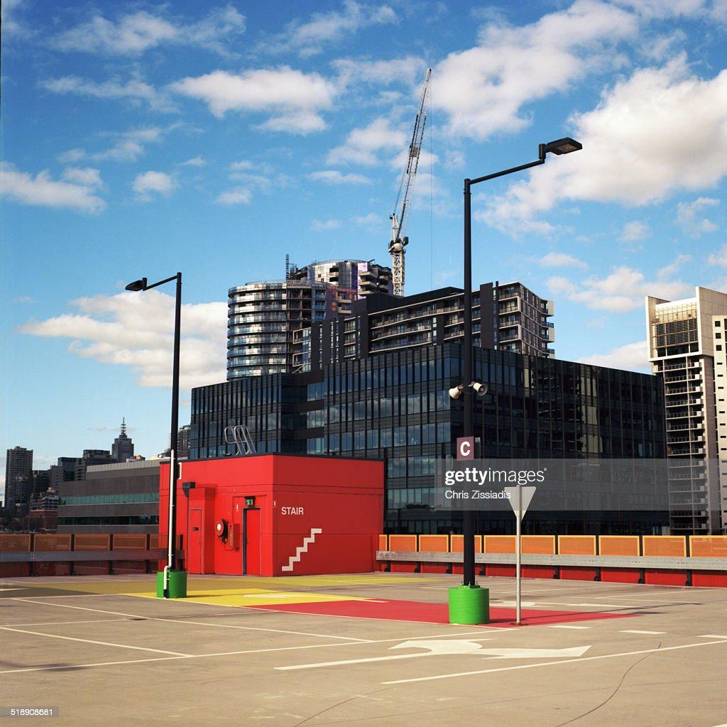 Car Park city and sky