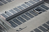 Car park in Ireland, Cork, elevated view