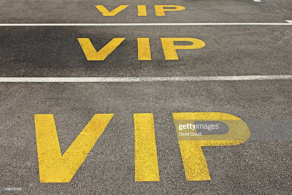 VIP car parking spaces : Stock Photo