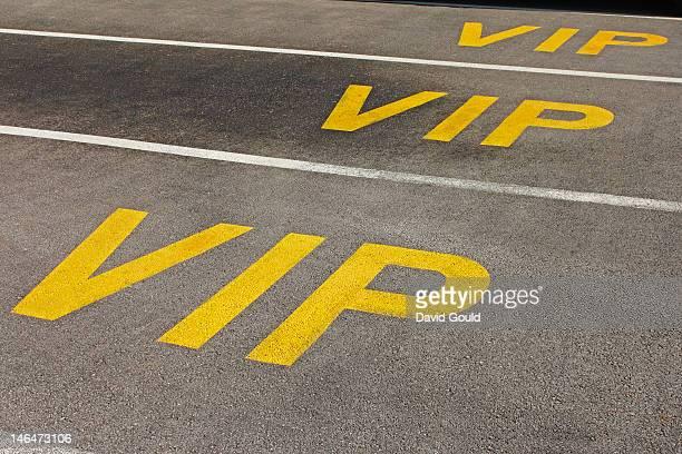 VIP car parking spaces