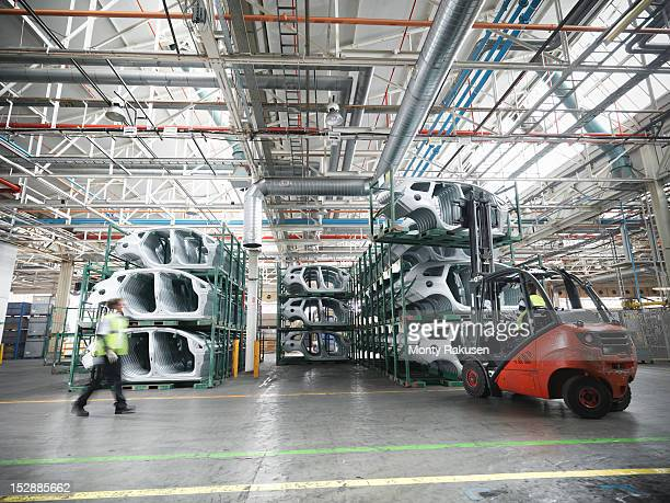 Car parts in car factory