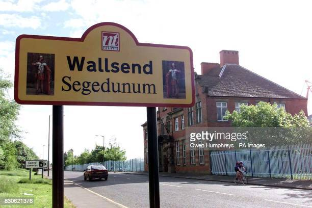 A car passes a sign welcoming visitors to Wallsend North Tyneside where a cocktail of drink and drugs has left in a serious condition in hospital *...