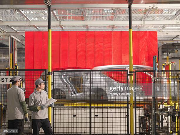 Car Plant Workers & Production Line