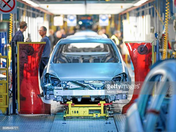 Car production line in car factory