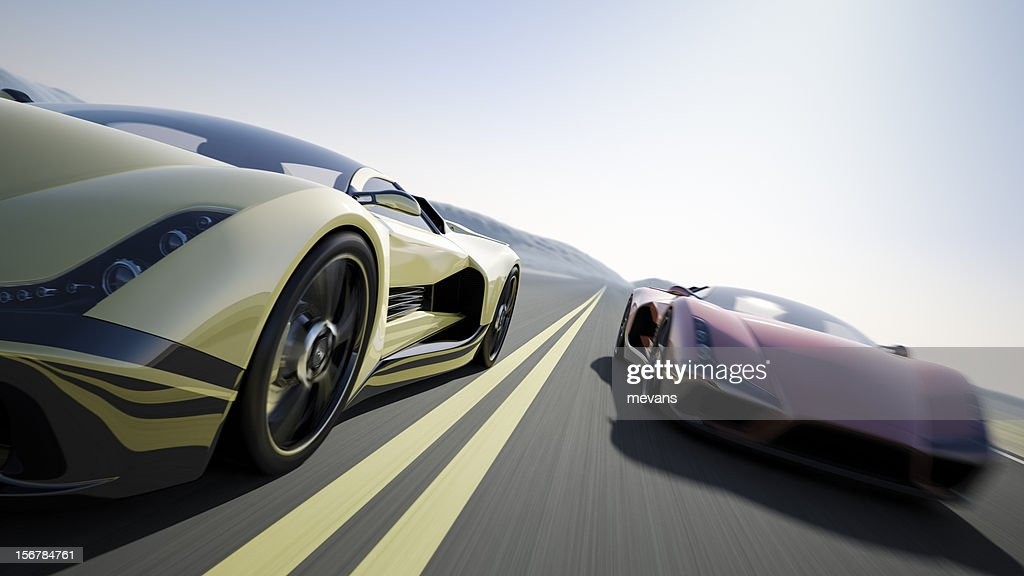 Car Race : Stockfoto