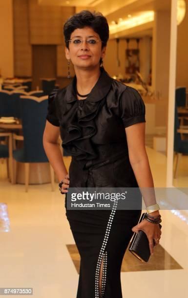 Car racer Bani Yadav during launch of Restaurant Raise The Bar at Clarens Hotel on November 16 2017 in Gurgaon India