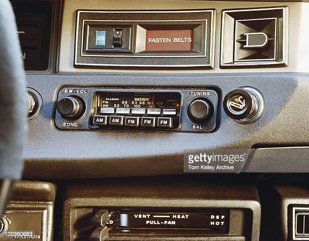 Car radio, close-up