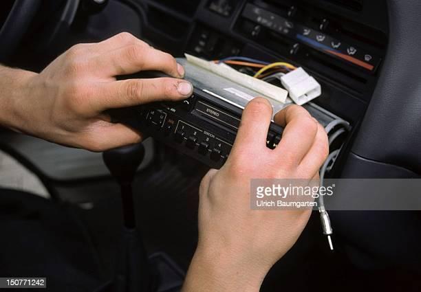Car radio theft