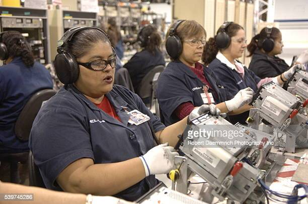 Car radios are manufactured at Delphi Delco Electronics de Mexico a maquiladora plant across the US border which makes parts for General Motors cars...