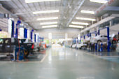 car repair maintenance service center blurred background