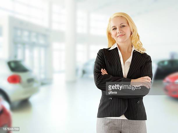 Car saleswoman.