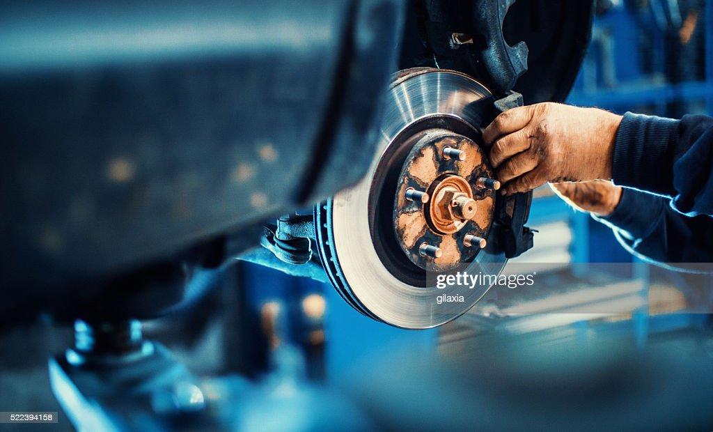 Car service procedure. : Stock Photo
