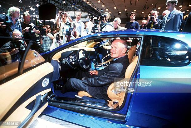 Car Show In Frankfurt Germany On September 14 1999Chairman Of Vw Ferdinand Piech Inside Bugatti 18 Cylinders