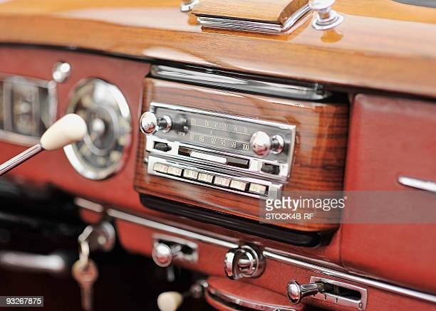 Car stereo in a vintage car