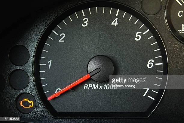 Car Tachometer - Engine Light On!