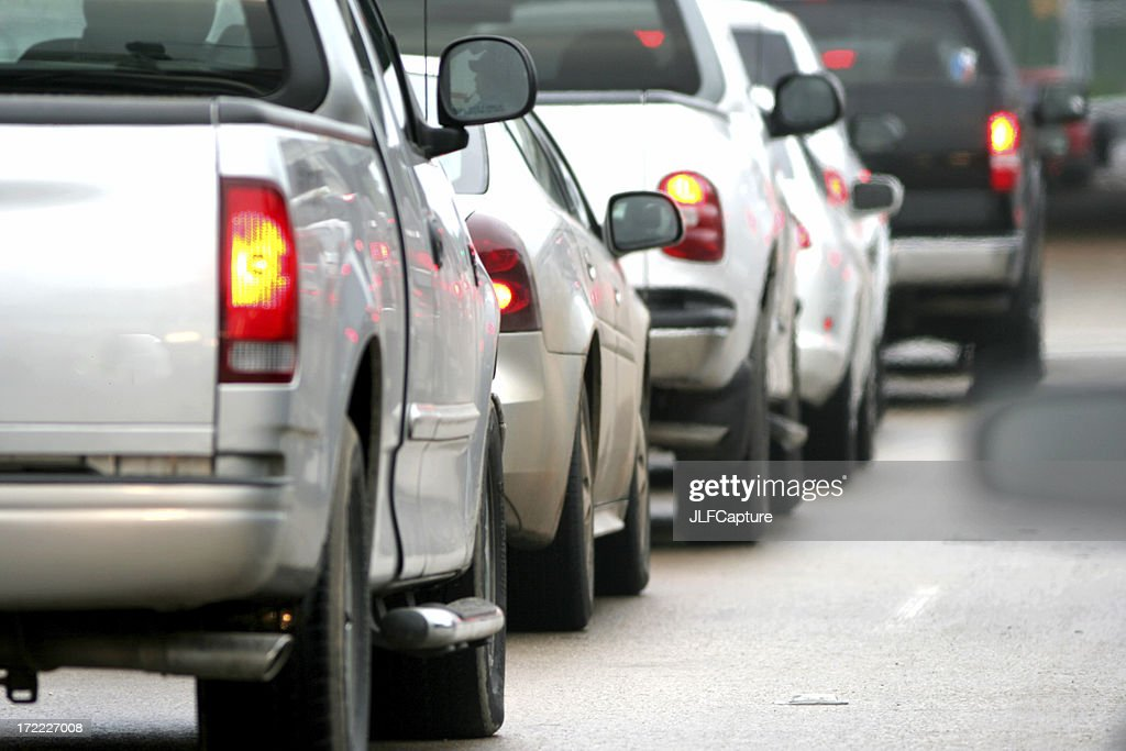 Car Tail lights in Traffic