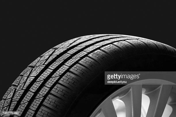 car tire on dark backgroound