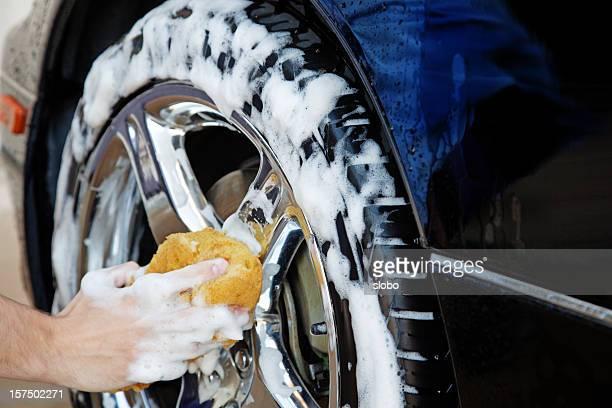 Reifen-Waschung