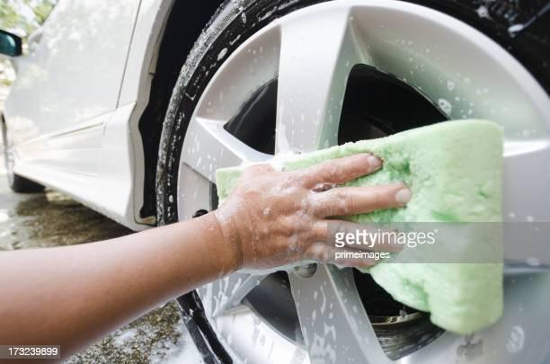 Délavé pneu de voiture