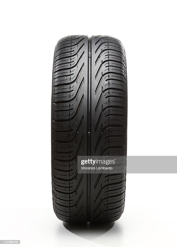 Car tyre on white background : Stock Photo