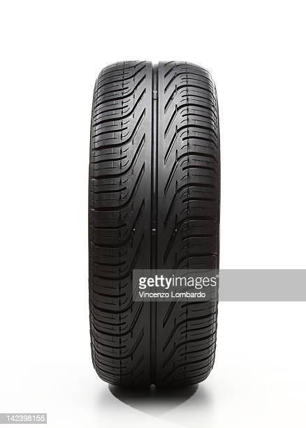 Car tyre on white background