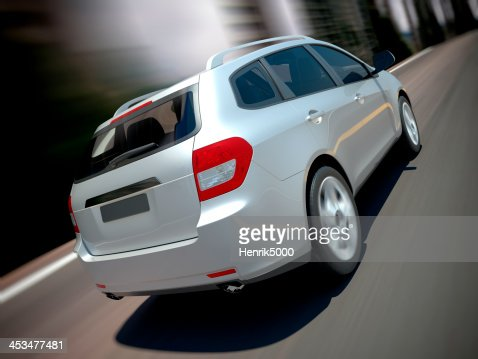 SUV car urban driving