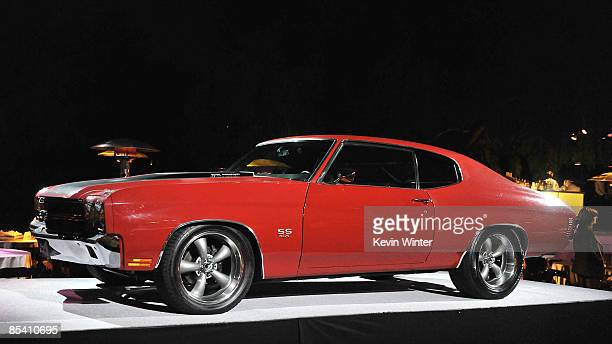 A car used in the film is on display at the afterparty for the premiere of Universal's 'Fast Furious' at the Universal Amphitheatre on March 12 2009...