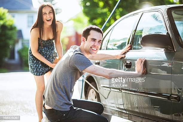 Autowäsche paar